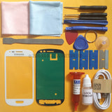 Samsung Galaxy S3 Mini Front Glass Screen Replacement Repair Kit WHITE