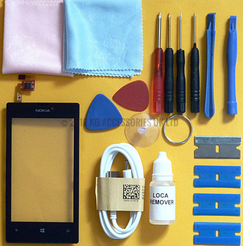 Nokia Lumia 520 Replacement Touch Screen Digitizer Repair Kit
