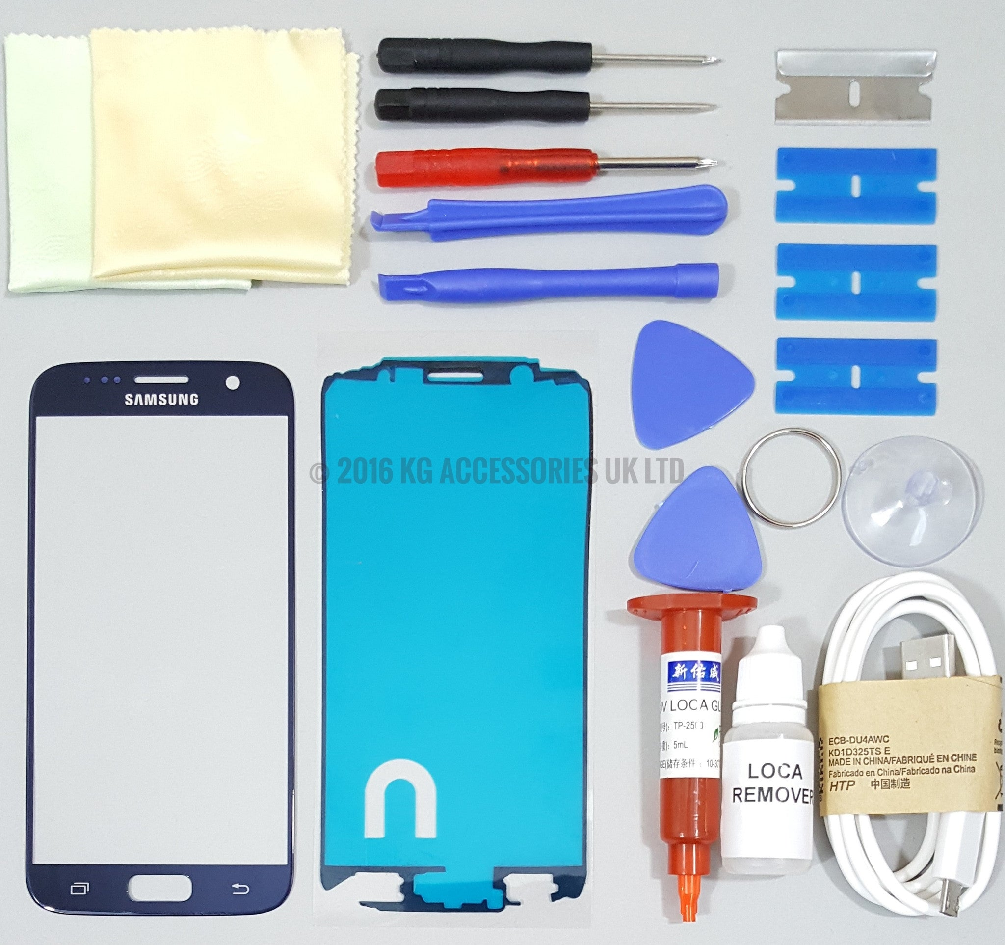 Samsung galaxy s6 replacement screen front glass repair kit blue samsung galaxy s6 replacement screen front glass repair kit blue solutioingenieria Image collections