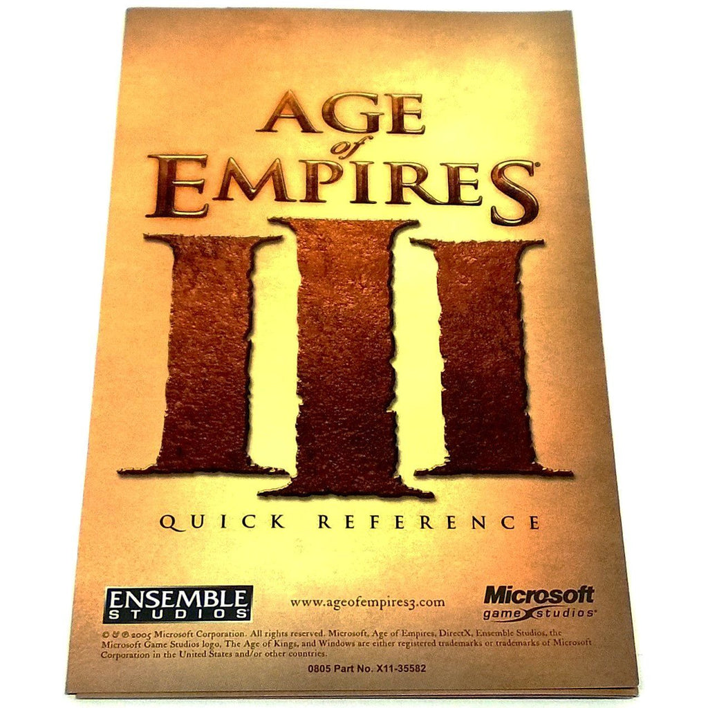 Age of Empires III for PC CD-ROM - Front of reference card