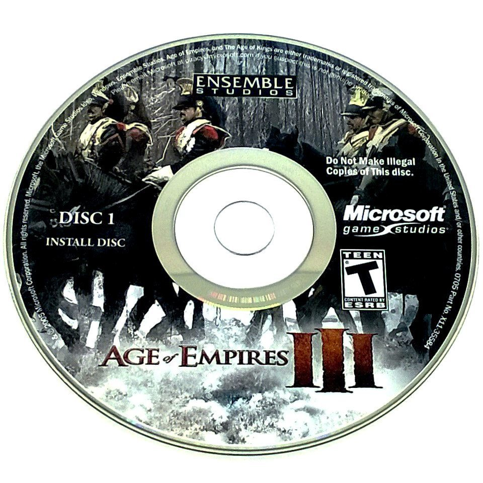 Age of Empires III for PC CD-ROM - Game disc 1