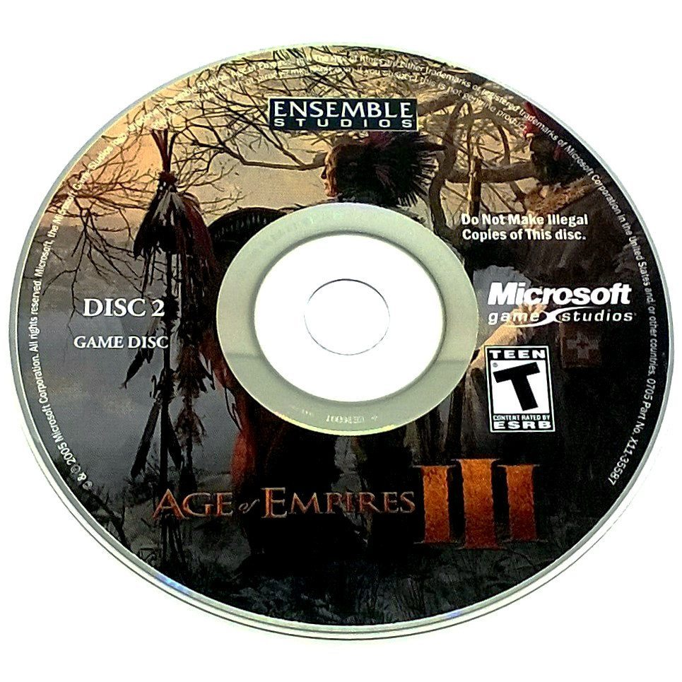 Age of Empires III for PC CD-ROM - Game disc 2
