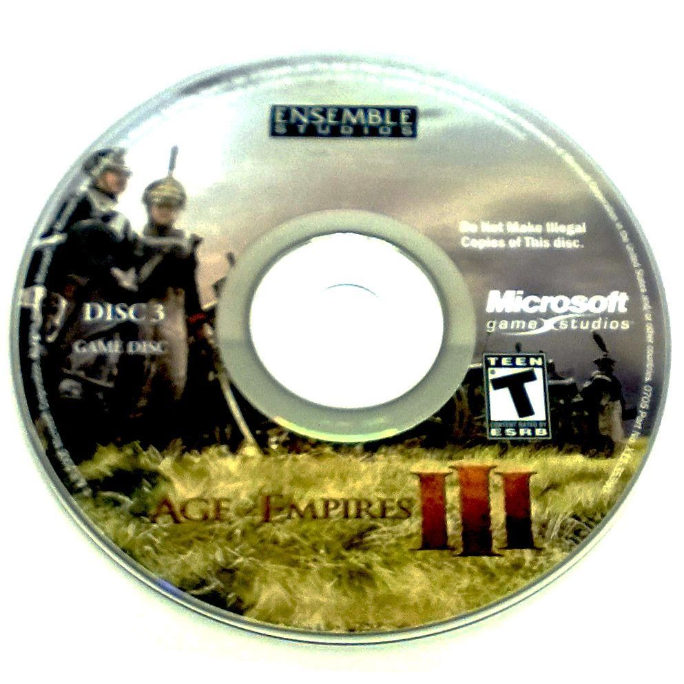 Age of Empires III for PC CD-ROM - Game disc 3