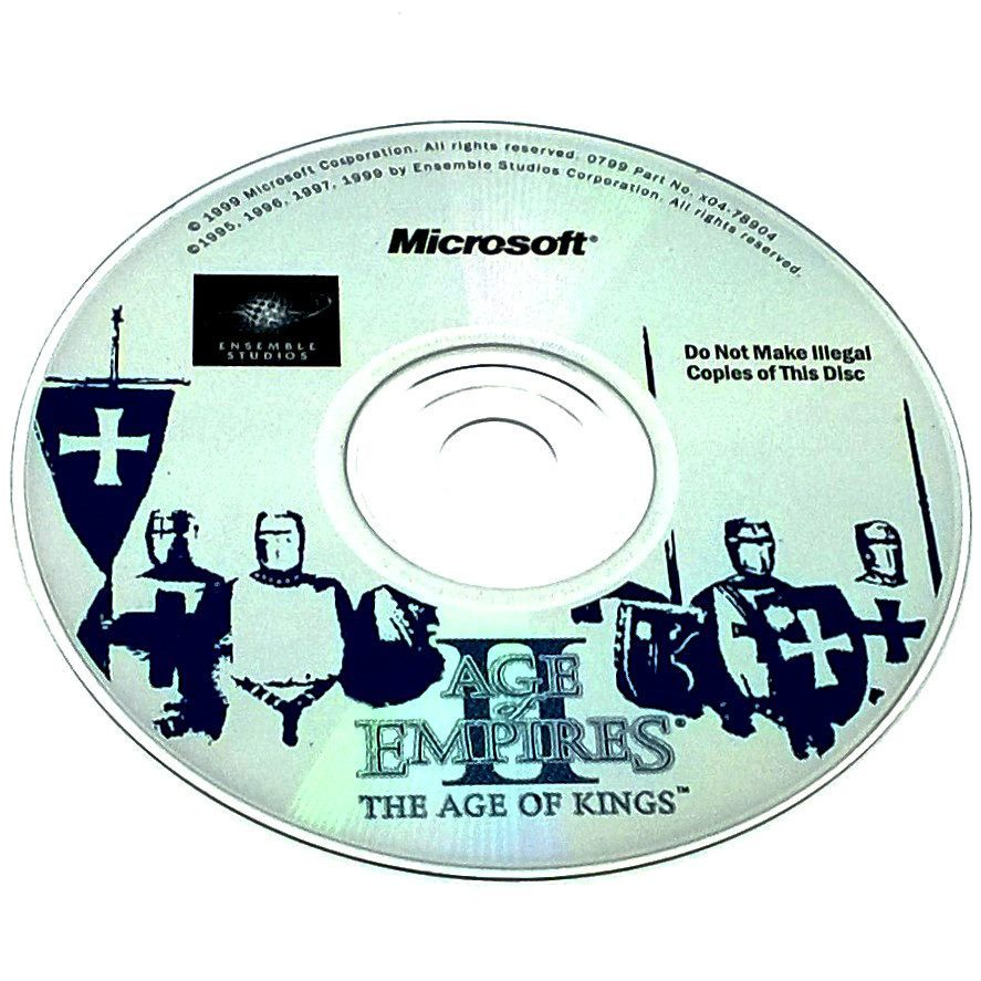 Age of Empires II: The Age of Kings for PC CD-ROM - Game disc
