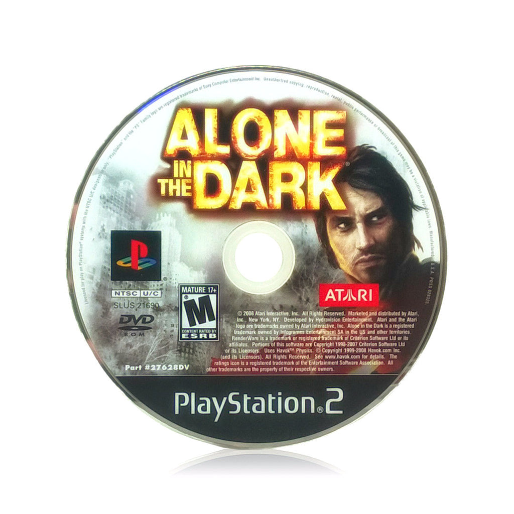 Alone in the Dark Sony PlayStation 2 Game - Disc