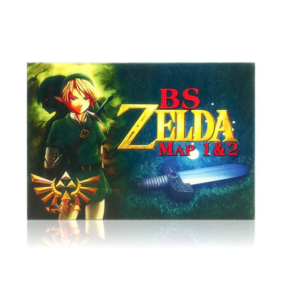 BS Zelda Map 1 & 2 SNES Super Nintendo Game - Box