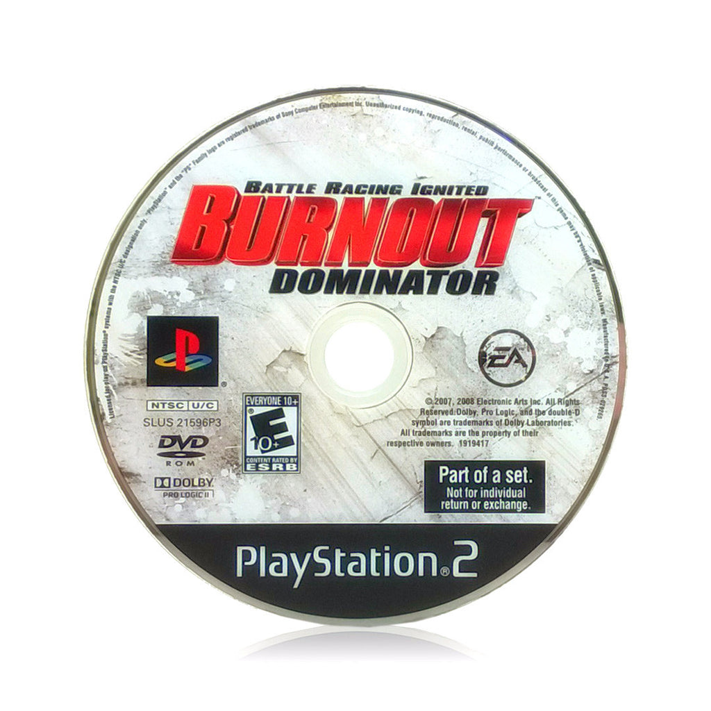 Burnout Dominator Sony PlayStation 2 Game - Disc