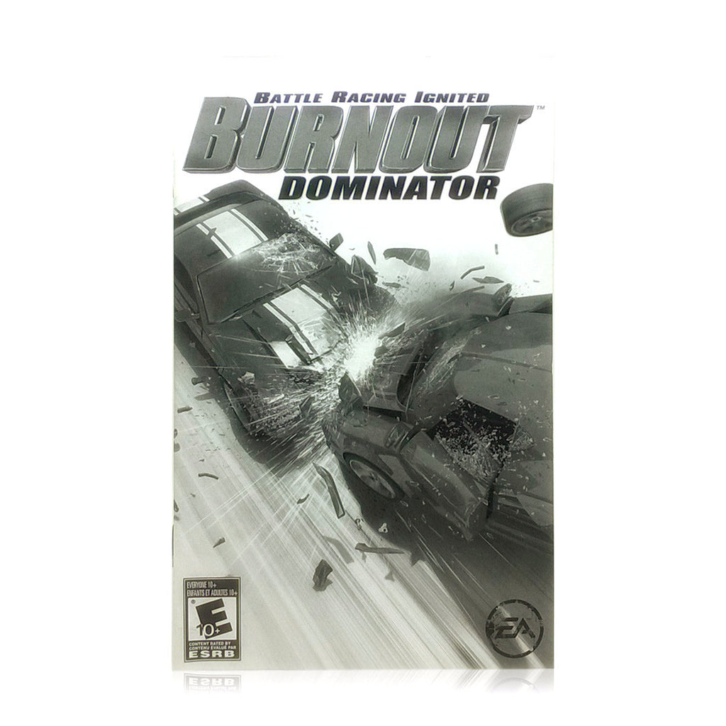 Burnout Dominator Sony PlayStation 2 Game - Manual
