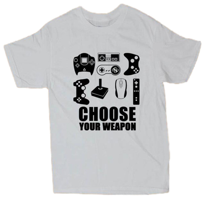 Choose Your Weapon Gamer T-Shirt - White