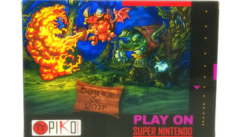 Dorke and Ymp SNES Super Nintendo Game - Box