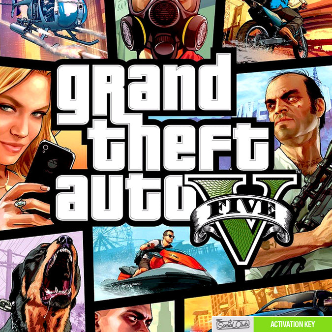 Grand Theft Auto V PC Game Rockstar CD Key