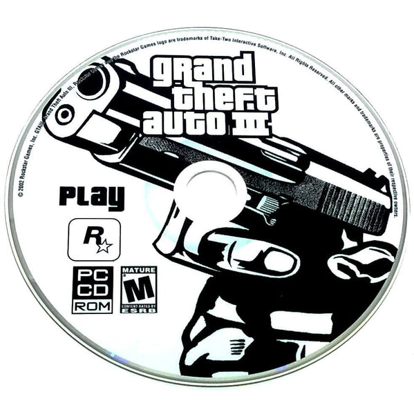 Grand Theft Auto III for PC CD-ROM