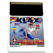 Klax for TurboGrafx-16 - Front of HuCard