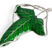 Lord of The Rings Style Elven Leaf Brooch Pendant Necklace Pin