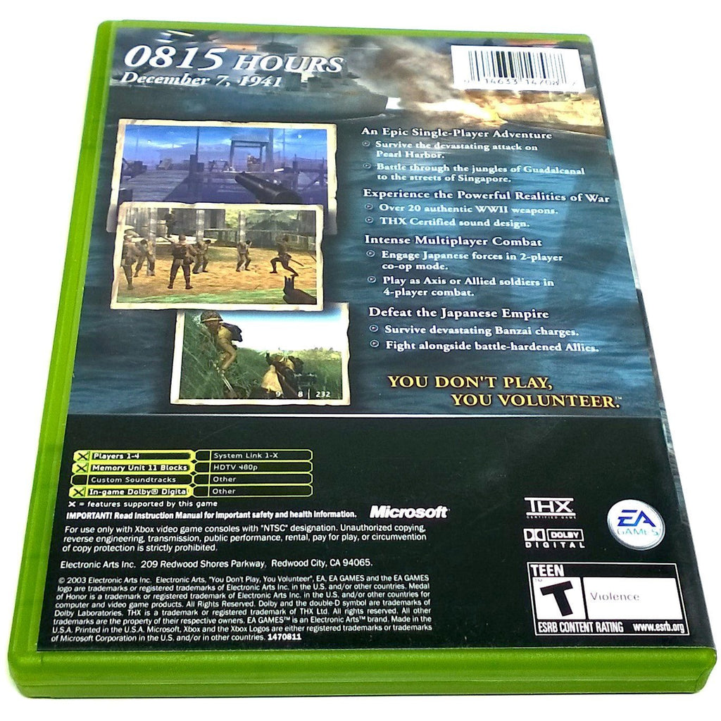 Medal of Honor: Rising Sun for Xbox - Back of case
