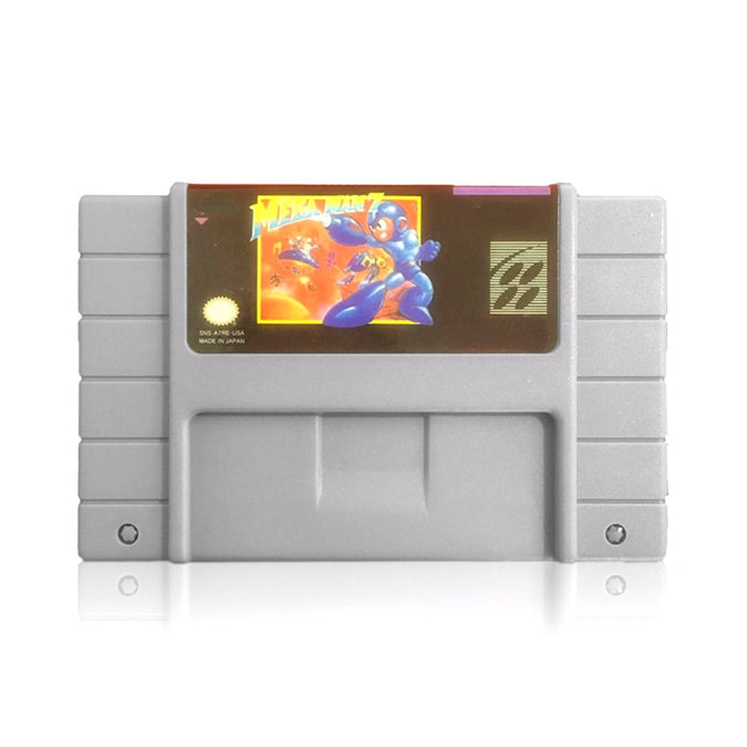 Mega Man 7 Reproduction SNES Super Nintendo Game - Cartridge