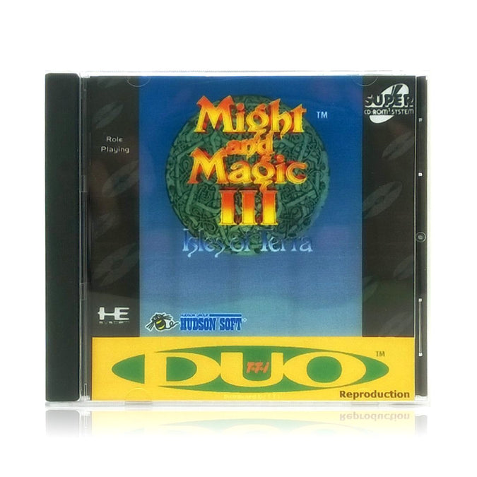 Might and Magic III: Isles of Terra Reproduction TurboGrafx-16 CD Game - Case