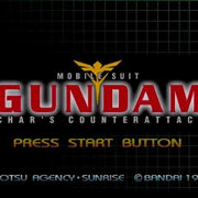 Mobile Suit Gundam: Char's Counterattack Import Sony PlayStation Game - Titlescreen