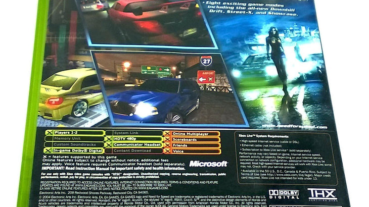 Need For Speed Underground 2 For Xbox Pj S Games