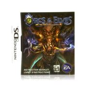 Orcs & Elves Nintendo DS Game - Manual