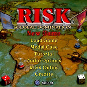 RISK: Global Domination Sony PlayStation 2 Game - Titlescreen