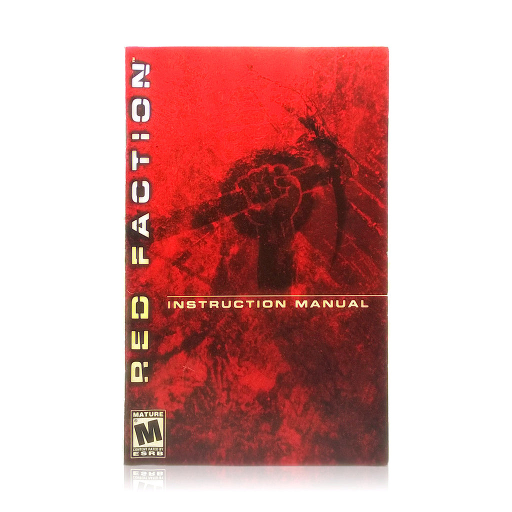 Red Faction Sony PlayStation 2 Game - Manual