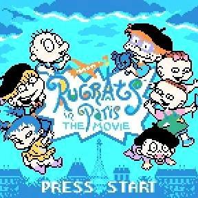 Rugrats in Paris: The Movie Nintendo Game Boy Color Game - Titlescreen