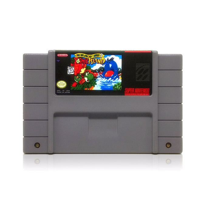 Super Mario World 2: Yoshi's Island SNES Super Nintendo Game - Cartridge