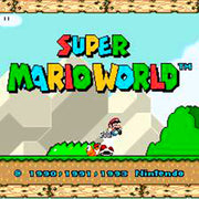 Super Mario World SNES Super Nintendo Game - Screenshot