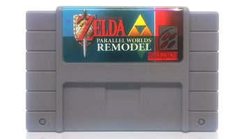 The Legend of Zelda: Parallel Worlds Remodel SNES Super Nintendo Game - Cartridge