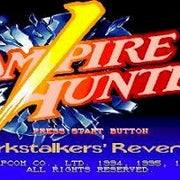 Vampire Hunter: Darkstalker's Revenge Import Sega Saturn Game - Titlescreen