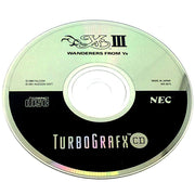 Ys III: Wanderers from Ys for TurboGrafx-16 CD - Game disc