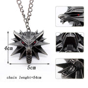 The Witcher Geralt of Rivia Medallion Wolf Head Necklace