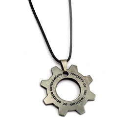 Gears of War Metal Replica Cog Tag Necklace