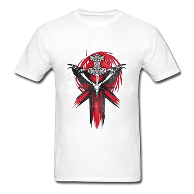 White For Honor Vikings Faction Emblem T-Shirt