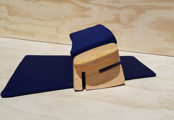 NAVY BLUE Eco Peace Meditation Seat with 3 sitting heights, Carry Bag and Kneeling Mat