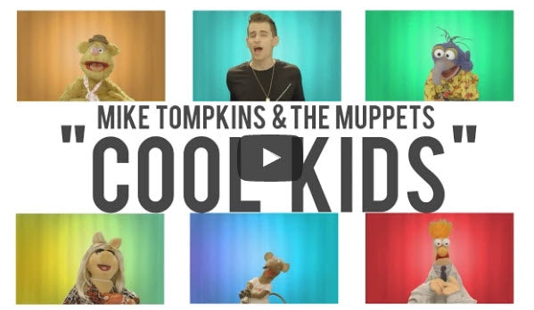 "The Muppets And Mike Tompkins Take On ""Cool Kids"" - Acapella"