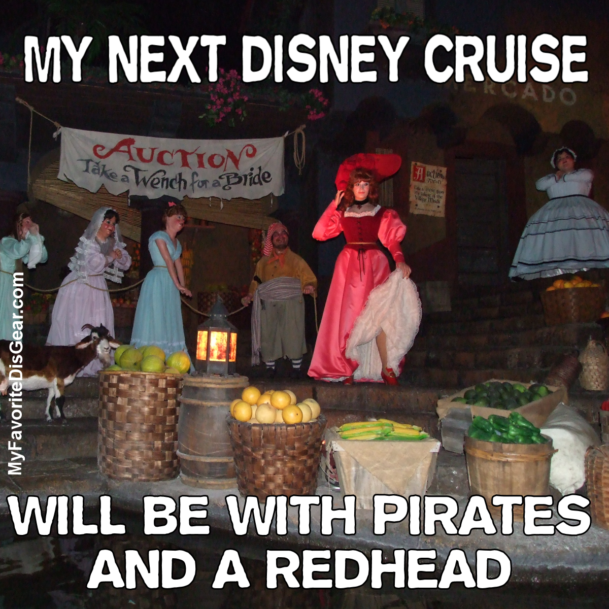 My next disney cruise will be with pirates and a redhead meme