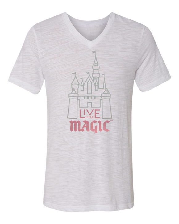 FRESH RELEASE Live The Magic Ladies Metallic Castle Short Sleeve T-Shirt