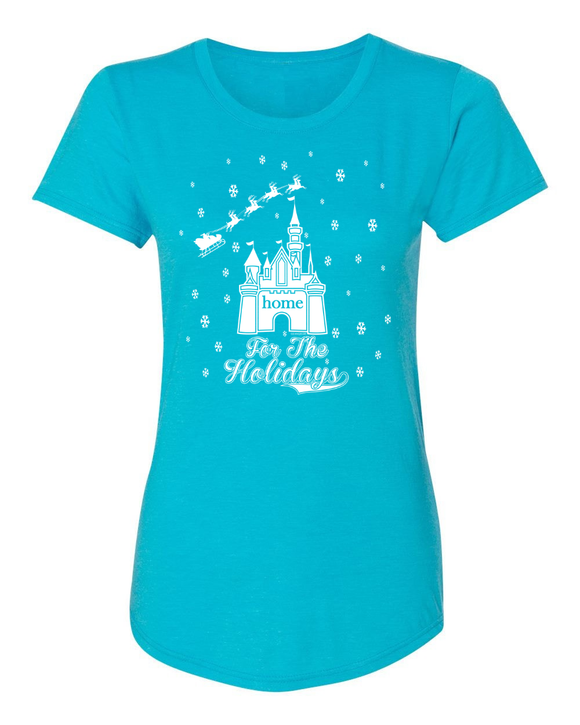 Home For The Holidays Ladies Christmas T-Shirt