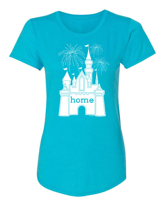 That Magical Castle Is My Home Fireworks Ladies T-Shirt