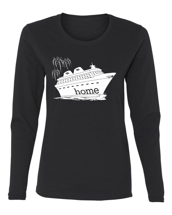 That Magical Cruise Is My Home Ladies Long Sleeve T-Shirt - With Personalization Option