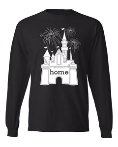 That Magical Castle Is My Home Fireworks Men's Long Sleeve T-Shirt