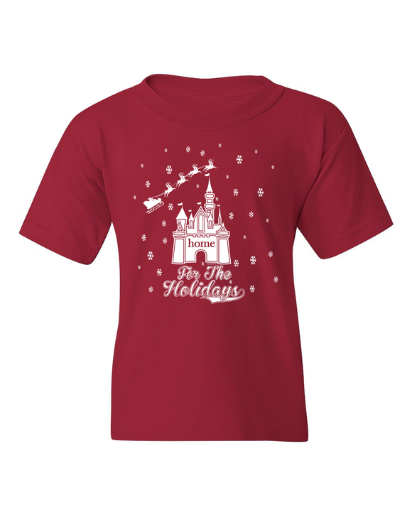 Youth Home for the Holidays Christmas T-Shirt