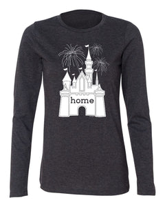 That Magical Castle Is My Home Fireworks Ladies Long Sleeve T-Shirt