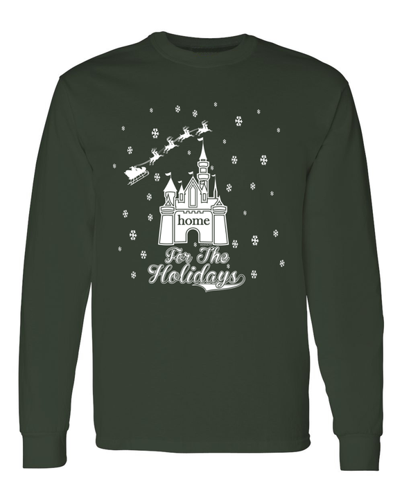 Home For The Holidays Men's Christmas Long Sleeve T-Shirt