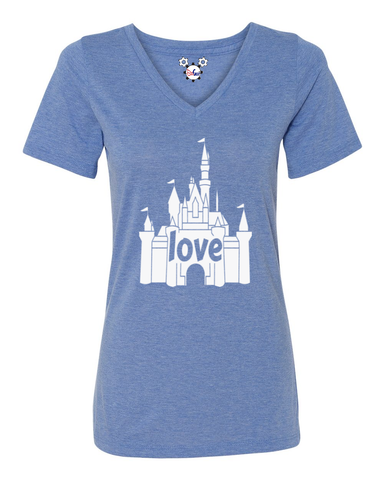 I Love That Disney Castle Ladies T-Shirt