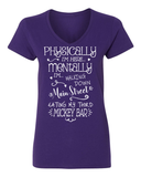 FRESH RELEASE - Physically I'm Here Mentally I'm on Main Street Eating My Third Mickey Bar Ladies T-Shirt