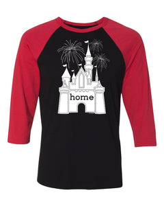 That Magical Castle Is My Home Fireworks Ladies Raglan