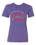 Wishing You A Very Merry Christmas And A Magical New Year Ladies Tee